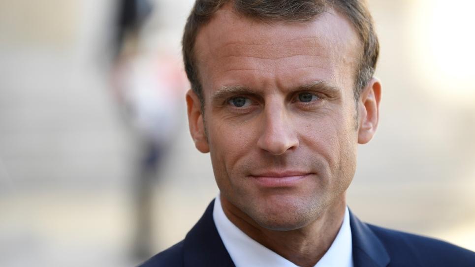 Le président de la République Emmanuel Macron à l'Elysée à Paris le 17 septembre 2018
