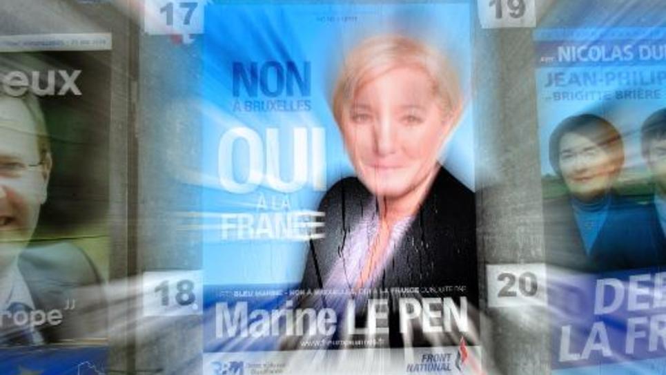 Affiche électorale de Marine Le Pen le 26 mai 2014 à Denain