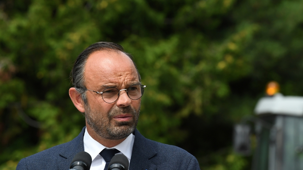 Le Premier ministre français Edouard Philippe à Chaillol dans les Hautes-Alpes, le 29 août 2018