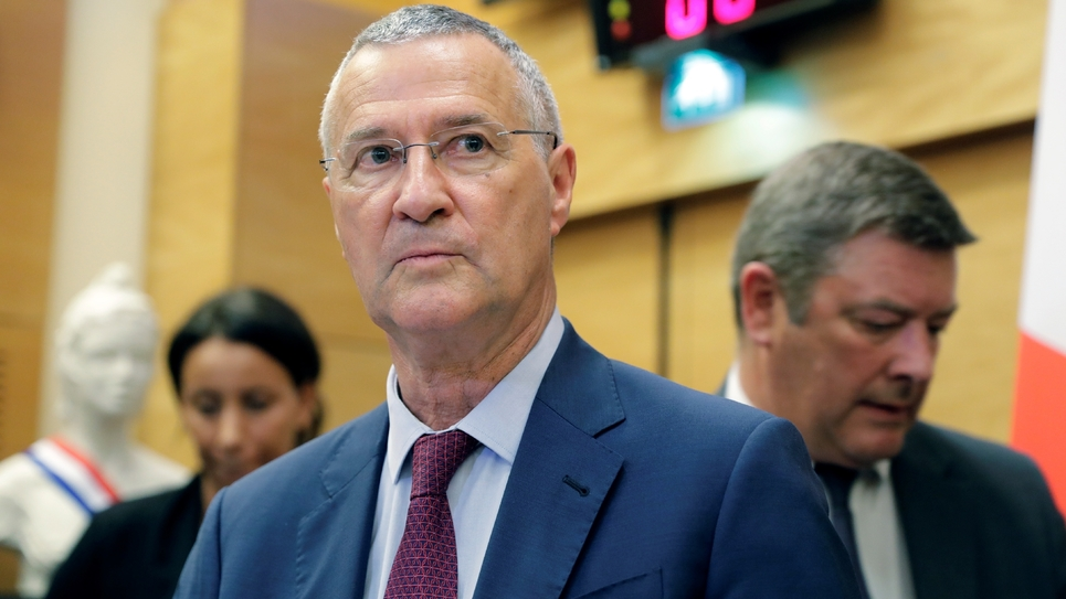 Patrick Strzoda à son arrivée devant la Commission d'enquête de l'Assemblée le 24 juillet 2018