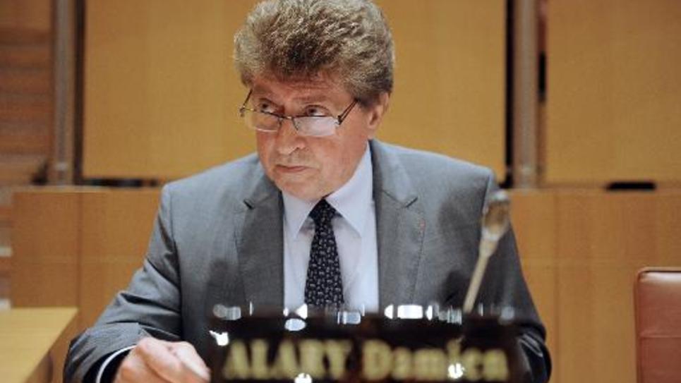 Damien Alary, président PS du conseil général du Gard, le 29 septembre 2014 à Montpellier, jour de son élection à la présidence du conseil régional de Languedoc-Roussillon