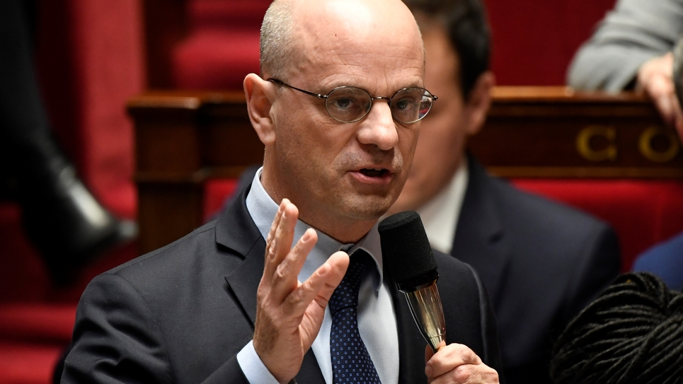 Le ministre de l'Education Jean-Michel Blanquer à l'Assemblée nationale à Paris, le 21 janvier 2020