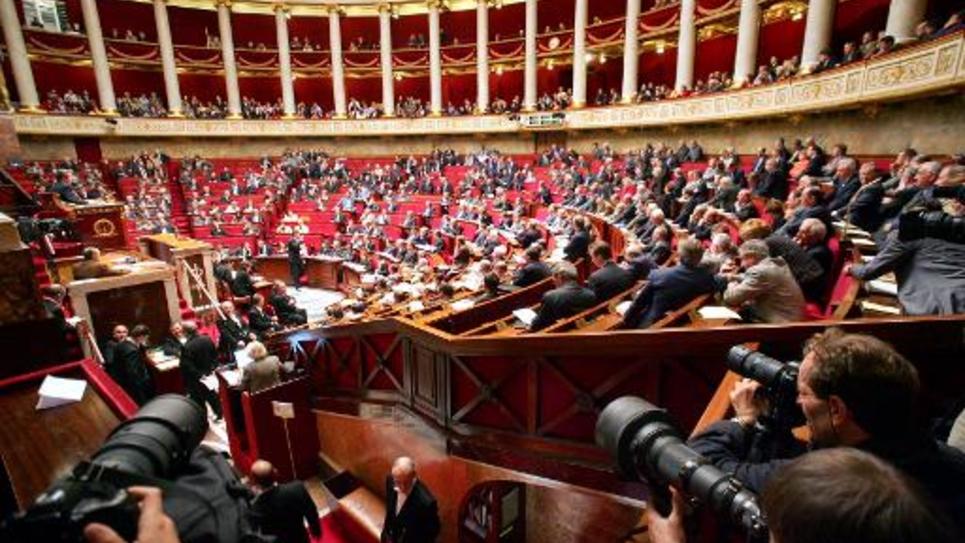 L'hémicycle de l'Assemblée nationale à Paris