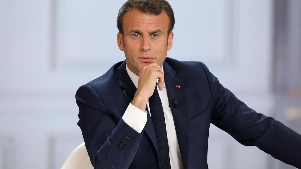 Emmanuel Macron lors de sa conférence de presse, le 25 avril 2019 à l'Elysée