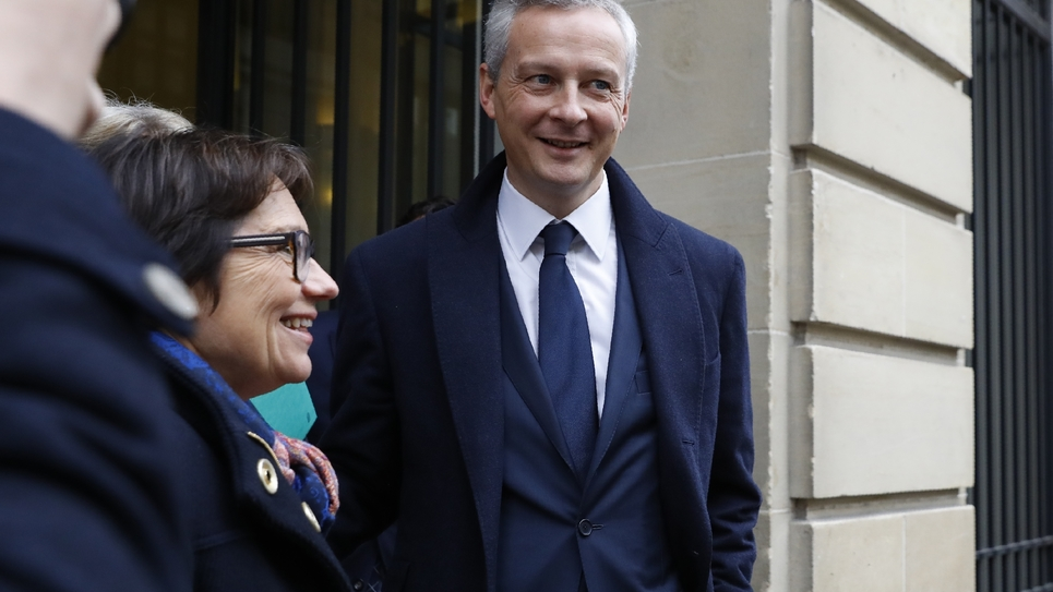 "Bruno Le Maire, lauréat du du Prix ""Press Club, Humour et Politique"" 2016, le 22 novembre 2016, à Paris"