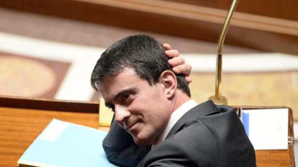 Le Premier ministre Manuel Valls à l'Assemblée naitonale à Paris, le 3 décembre 2014