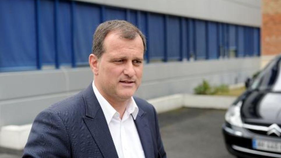 Le vice-président du Front national Louis Aliot, le 26 mai 2014 à Nanterre