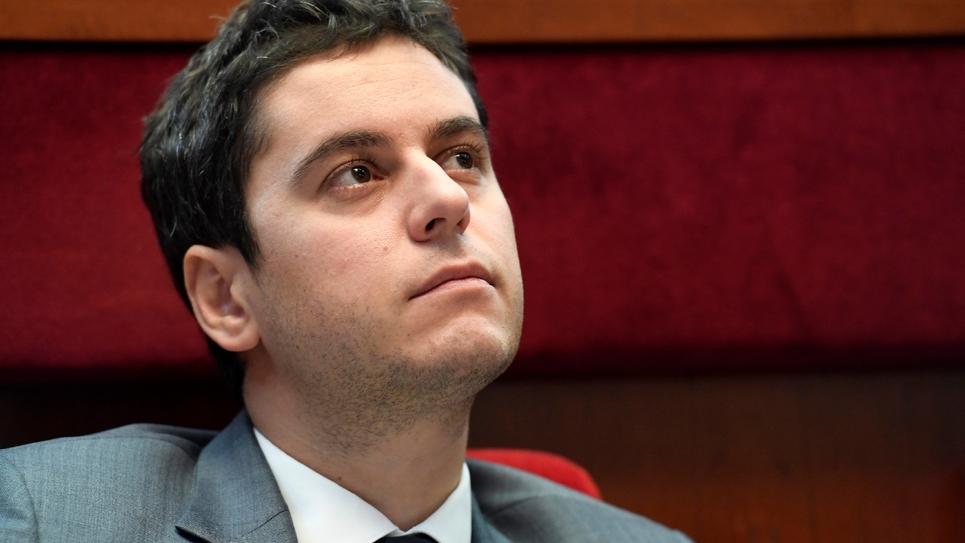 Gabriel Attal au Cese à Paris en mars 2019