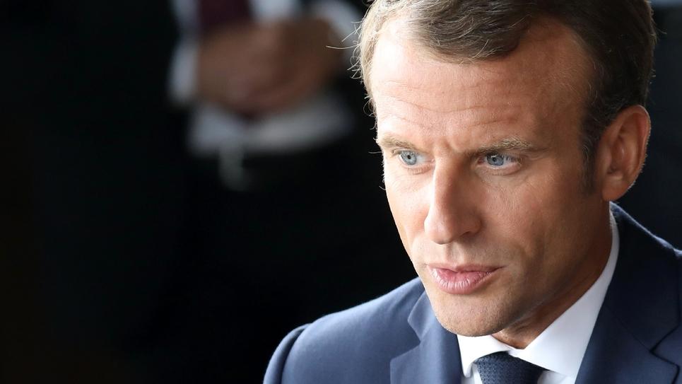 Le président français Emmanuel Macron, au théâtre royal de Copenhague, le 29 août 2018