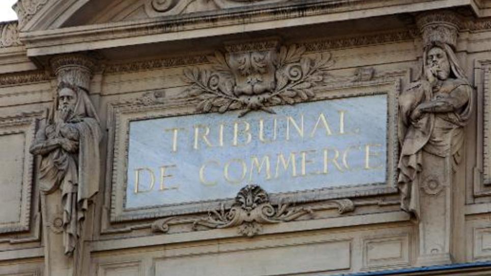 La façade du tribunal de commerce de Paris