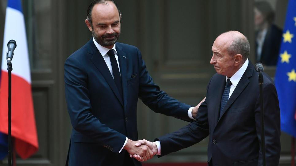Passation entre Edouard Philippe et Gérard Collomb, le 3 octobre 2018