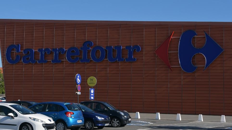 Une enseigne Carrefour à Toulouse, le 27 août 2018