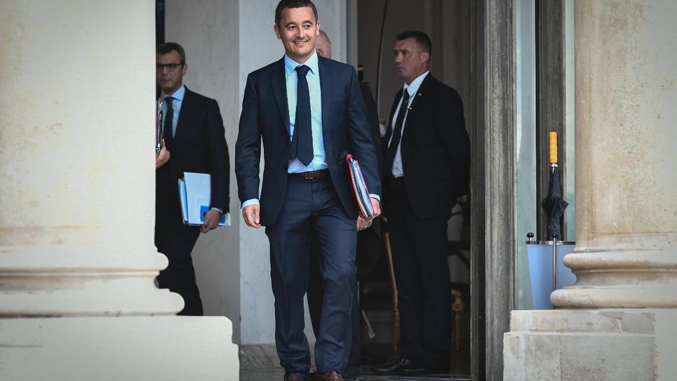 Le ministre des Comptes Publics Gérald Darmanin le 31 août 2018 à l'Elysée