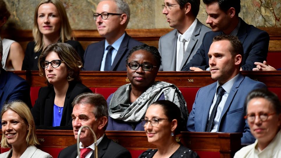 La députée LREM de Mayotte Ramlati Ali (C), à l'Assemblée nationale, le 4 juillet 2017