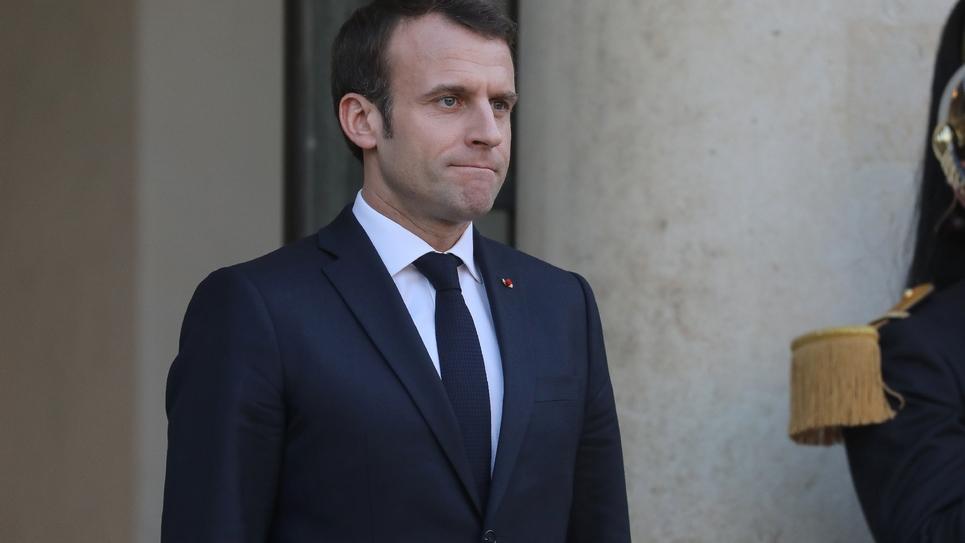 Emmanuel Macron à l'Elysée à Paris, le 27 février 2019