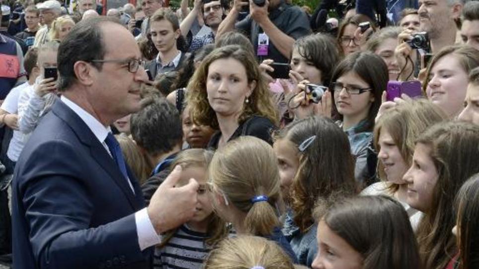 François Hollande le 6 juillet 2014 à Mont-Mouchet (Haute-Loire)