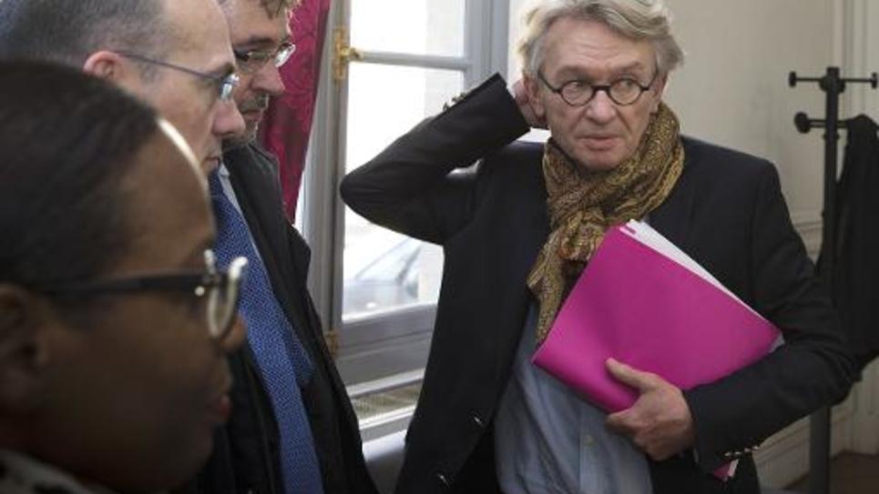 Jean-Claude Mailly au ministère du Travail le 22 avril 2014 à Paris