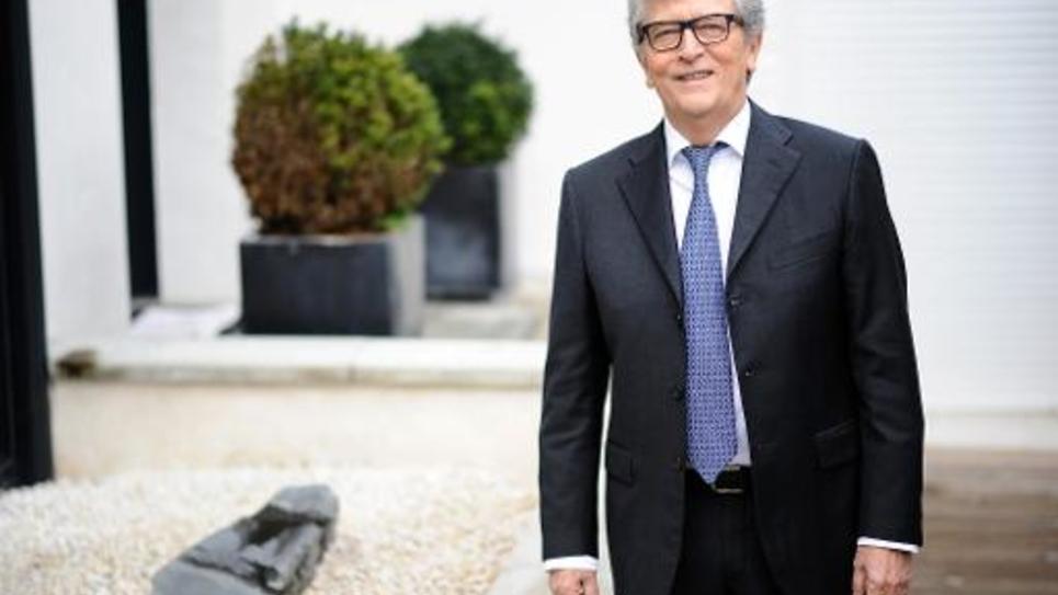 Le sénateur du Tarn-et-Garonne, Yvon Collin (Rassemblement démocratique et social européen, RDSE) à Montauban le 3 mars 2015