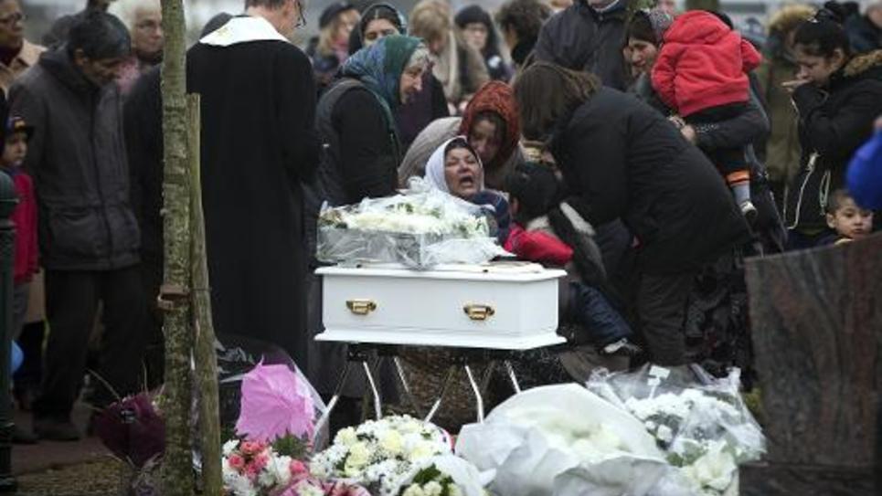 Funérailles de Maria Francesca au cimetière de Wissous, à sept kilomètres de Champlan (Essonne), le 5 janvier 2015