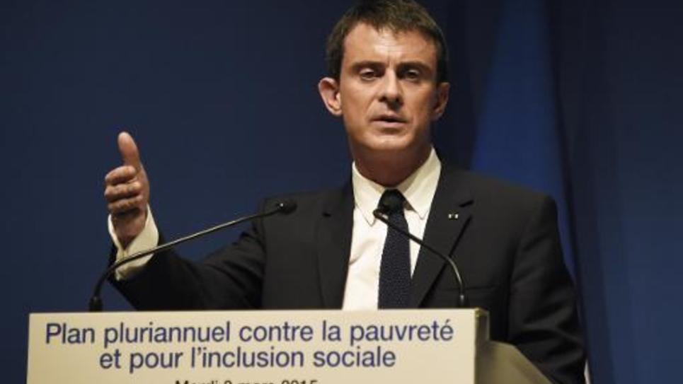 Le Premier ministre Manuel Valls en conférence de presse le 3 mars 2015 à Paris