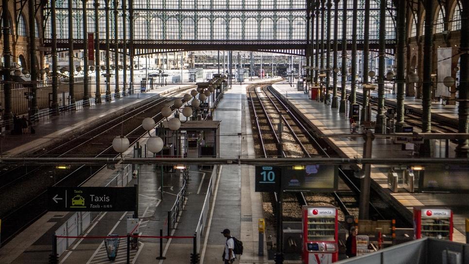 La gare de Nord le 24 avril 2018, jour de grève des cheminots