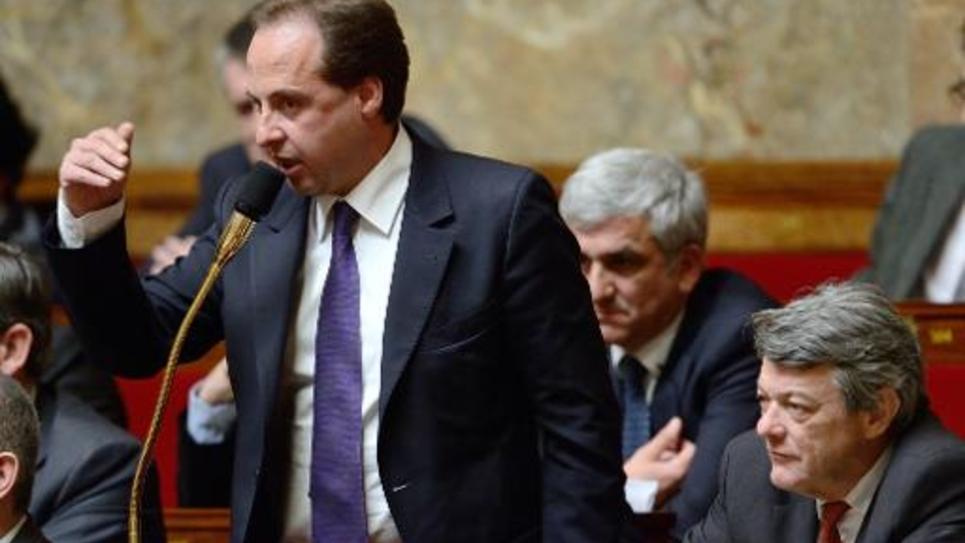 Jean-Christophe Lagarde, Hervé Morin et Jean-Louis Borloo le 3 avril 2013 à l'Assemblée nationale à Paris
