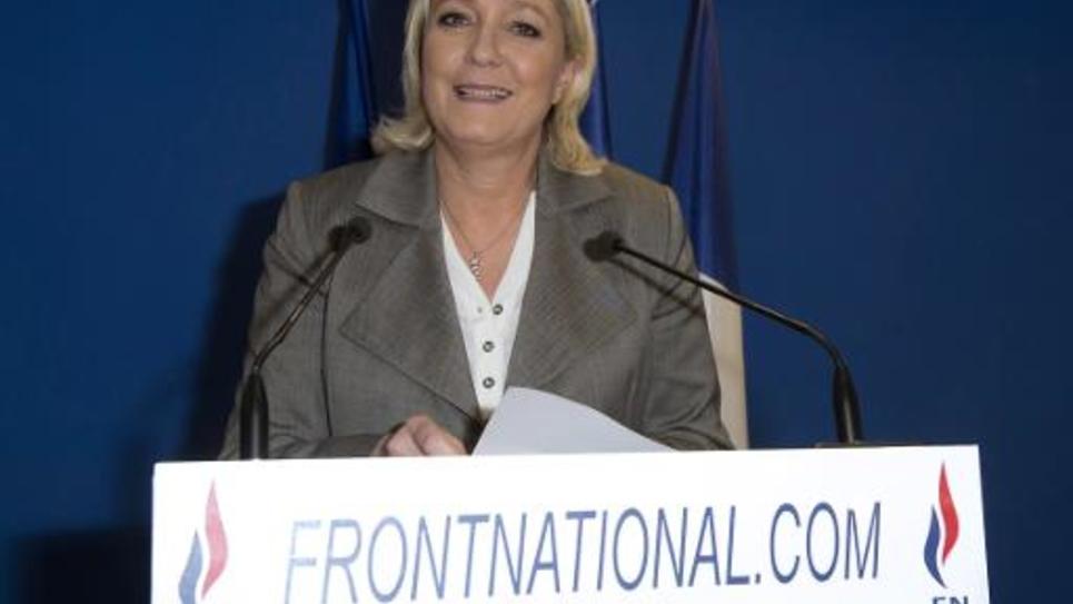 Marine Le Pen, la présidente du Front national, le 29 mars 2015 à Nanterre