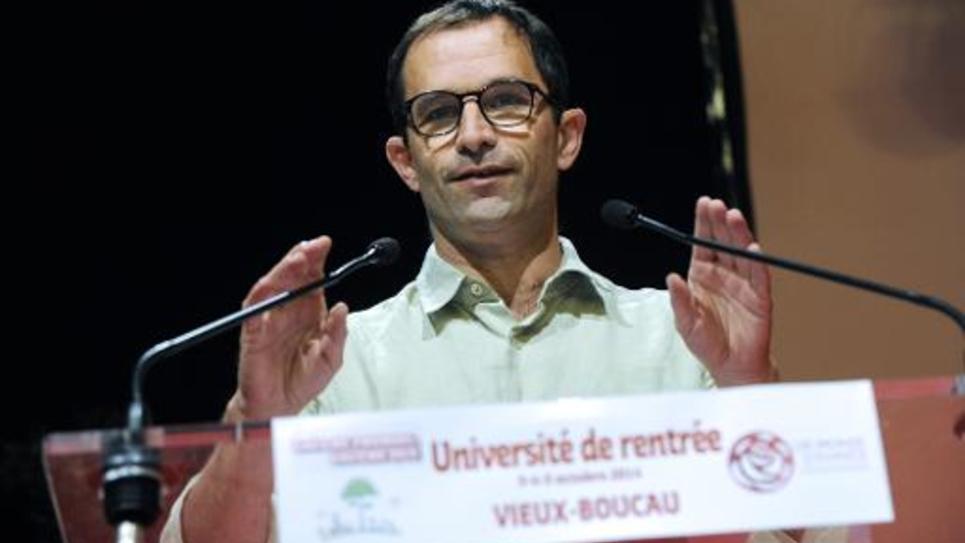 L'ex-ministre de l'Education, Benoît Hamon, le 5 octobre 2014 à Vieux-Boucau