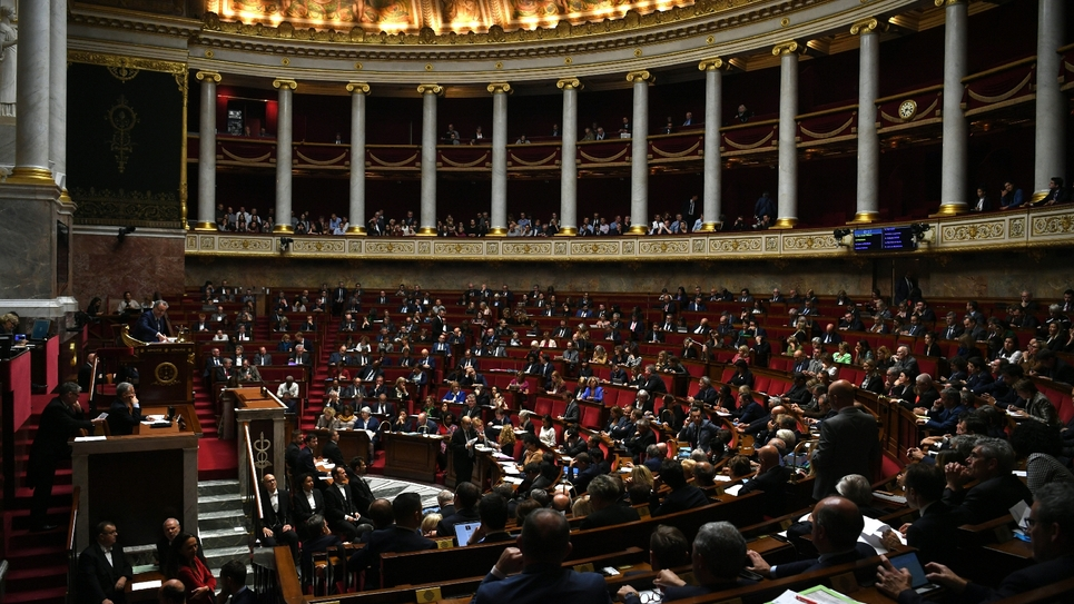 Les députés en session à l'Assemblée Nationale le 15 octobre 2019