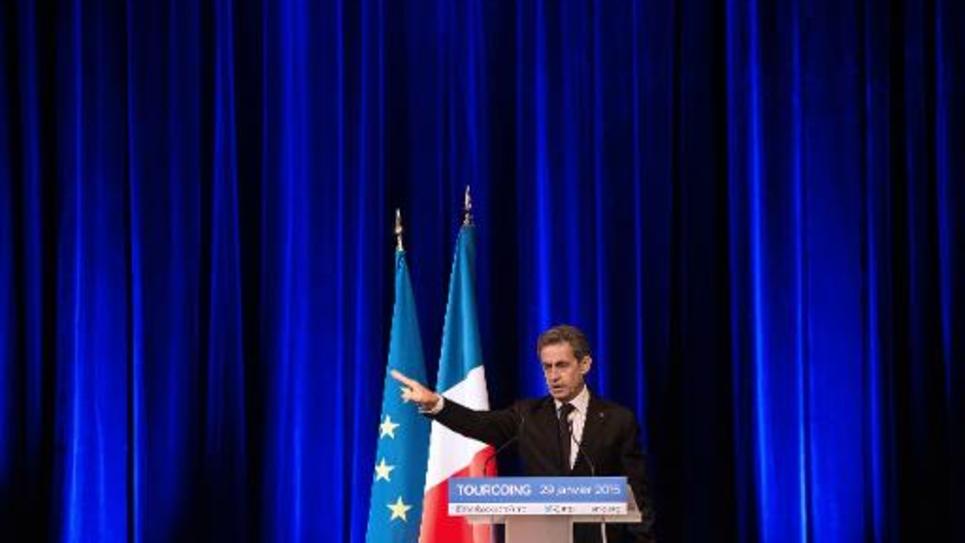 Nicolas Sarkozy lors d'un meeting le 29 janvier 2015