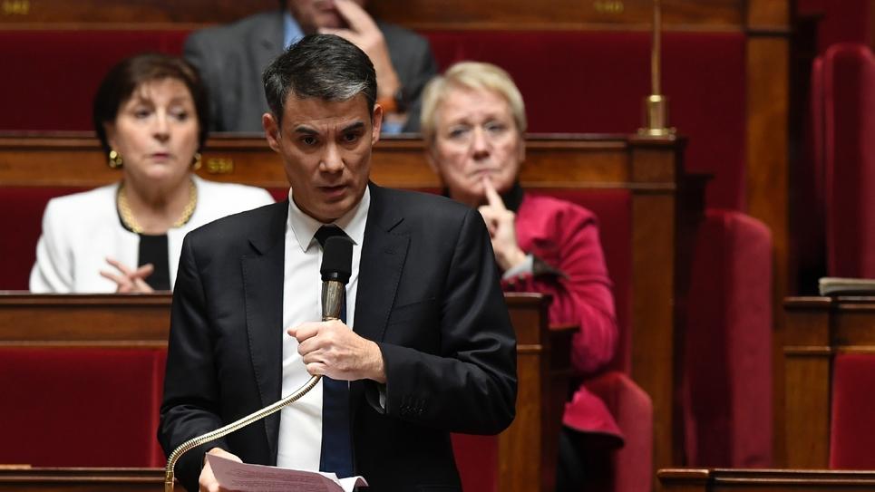 Le député PS Olivier Faure le 14 décembre 2016 à l'Assemblée nationale à Paris