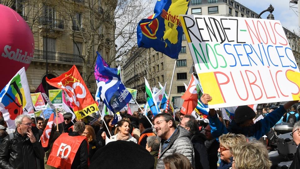 Manifestation contre la réforme de la Fonction publique, le 27 mars 2019 à Paris