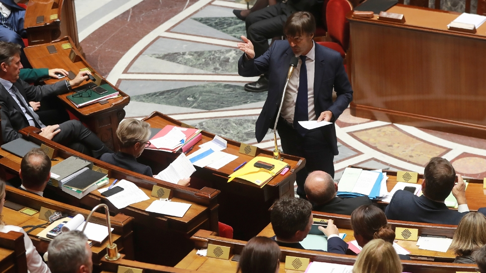Nicolas Hulot à l'Assemblée nationale, le 26 septembre 2017 à Paris