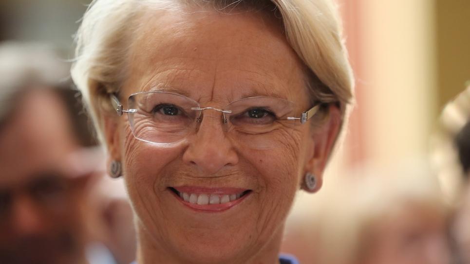 Michèle Alliot-Marie lors d'un meeting à Menton dans les Alpes-Maritimes, le 30 juin 2018