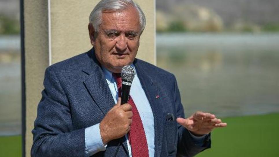 L'ancien Premier ministre Jean Pierre Raffarin à La Trimouille, près de Poitiers, le 16 mai 2014