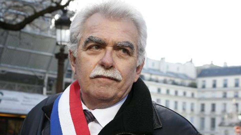 Le chef de file des députés du Front de gauche, André Chassaigne, photographié près de l'Assemblée nationale le 4 février 2015