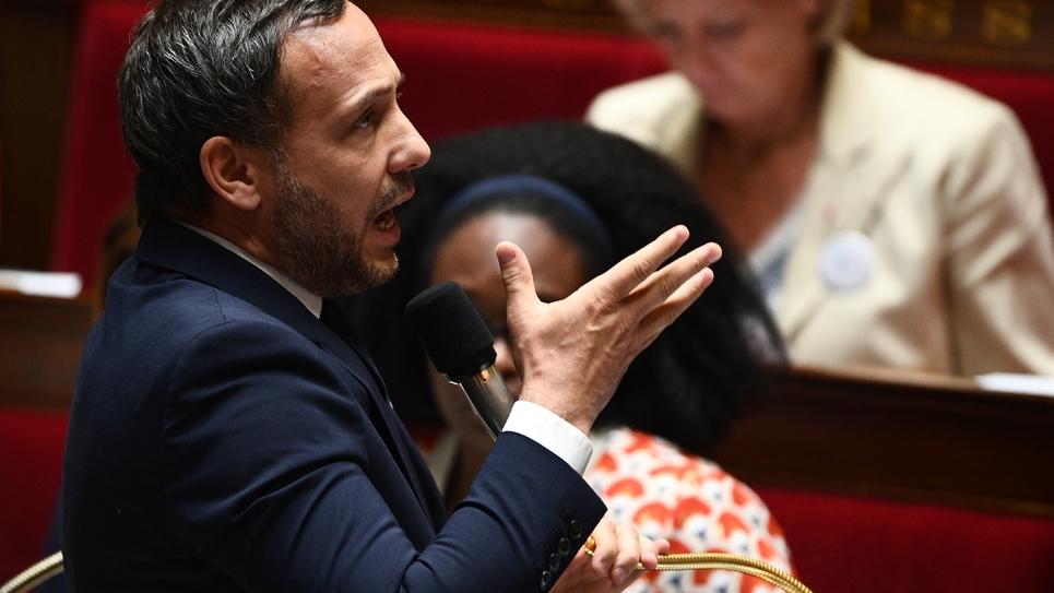 Le secrétaire d'Etat à la Protection de l'Enfance Adrien Taquet le 9 juillet 2019