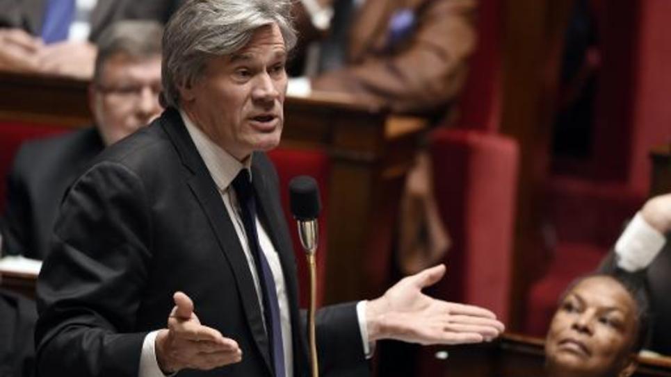 Le ministre de l'Agriculture et porte-parole du gouvernement Stephane Le Foll le 4 mars 2015 à l'Assemblée nationale à Paris