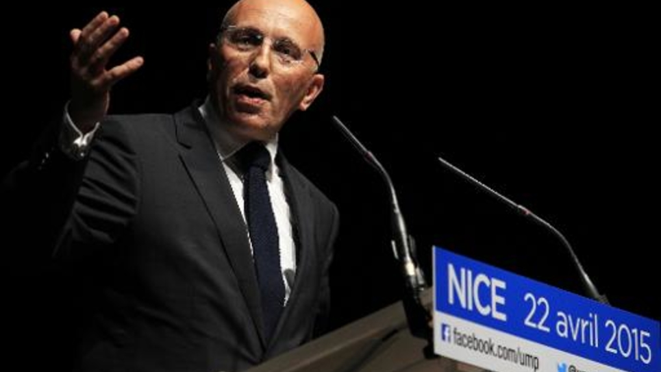 Le député UMP Eric Ciotti à Nice le 22 avril 2015