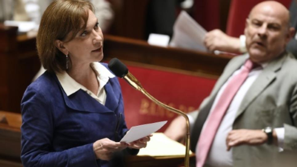 La secrétaire d'Etat aux personnes âgées Laurence Rossignol le 12 mai 2015 à l'Assemblée nationale à Paris