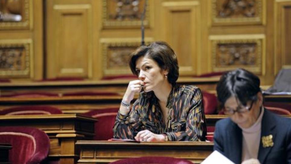 Chantal Jouanno le 23 janvier 2012 au Sénat à Paris