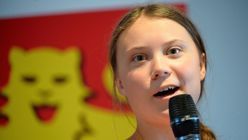 La jeune Suédoise Greta Thunberg, le 21 juillet 2019 à Cae,