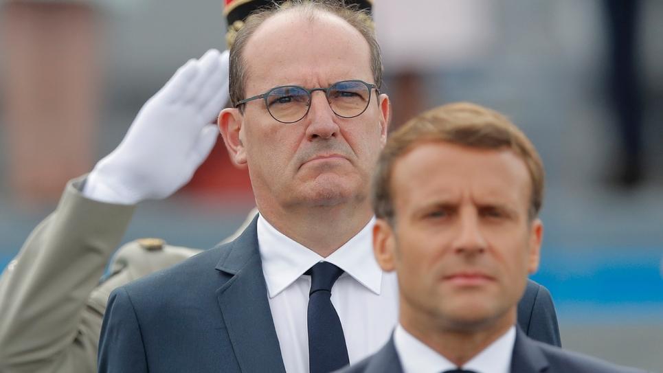 Le président Emmanuel Macron et le Premier ministre Jean Castex sur la place de la Concorde à Paris, le 14 juillet 2020