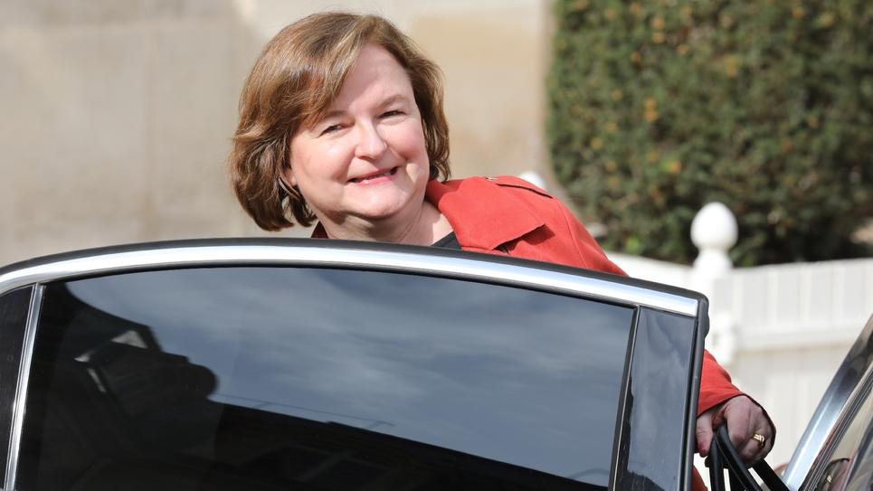 Nathalie Loiseau le 20 mars 2019 dans la cour de l'Elysée à Paris à l'issue du conseil des ministres