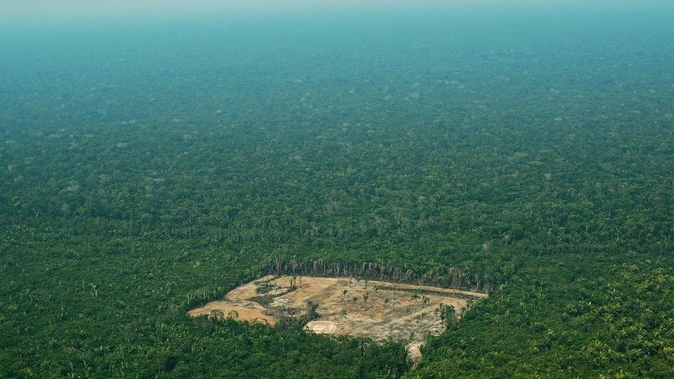 Vue aérienne de la forêt amazonienne au Brésil, en septembre 2017