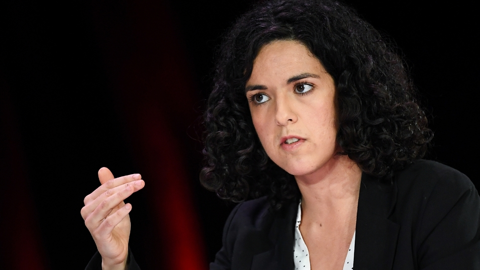 Manon Aubry lors d'un débat pour les européennes, le 11 avril 2019 à la Mutualité Française à Paris