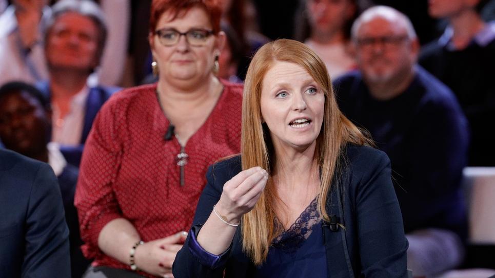 """Ingrid Levavasseur sur le plateau de """"L'émission politique"""" sur France 2, le 24 janvier 2019"""