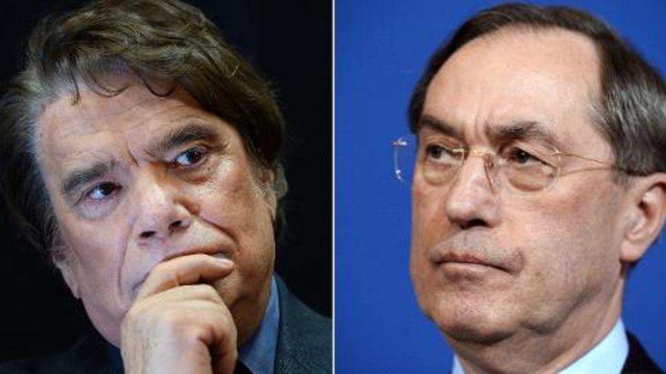 Montage de deux portraits de Bernard Tapie le 15 novembre 2013 à Marseille et Claude Guéant le 14 décembre 2011 à Paris