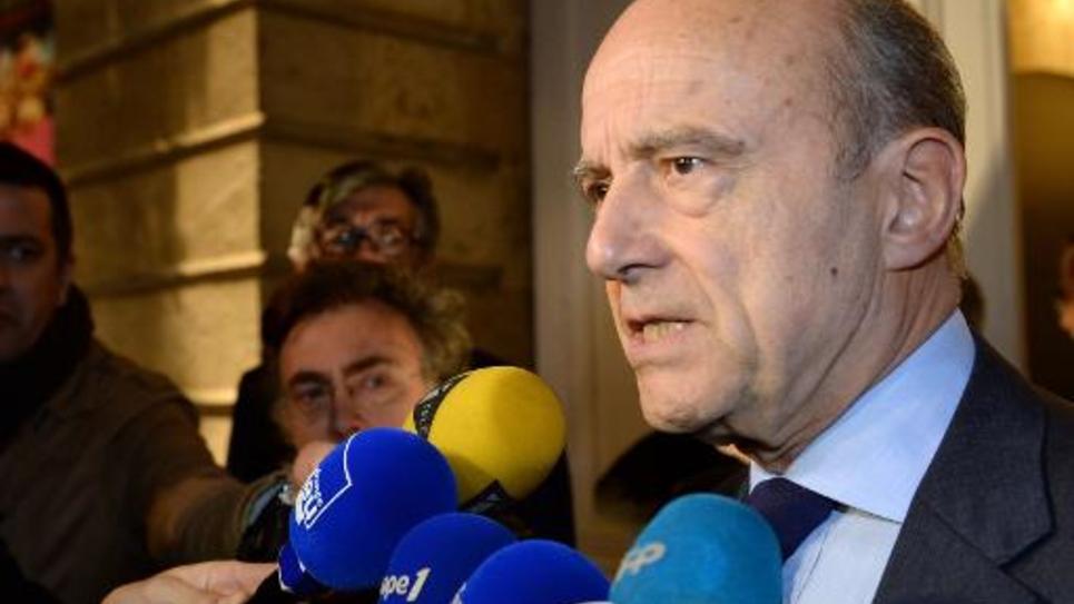 Le maire UMP de Bordeaux Alain Juppé, le 29 novembre 2014 à Bordeaux