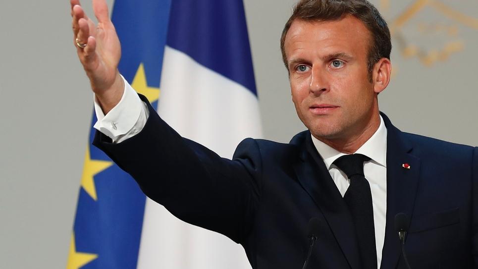 Le président français Emmanuel Macron le 19 juin 2019 à l'Elysée